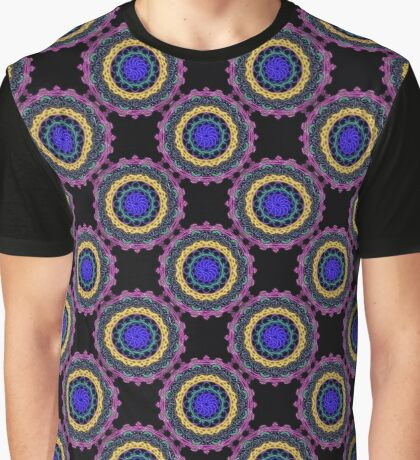 Glowing Doily in Pink and Blue Graphic T-Shirt