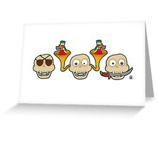 See, Hear, Speak no pirate skull monkey Greeting Card