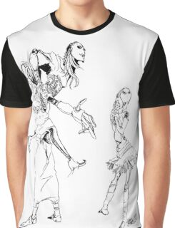 Robot Tablue Graphic T-Shirt