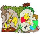 Pooh gets bit by Skree