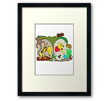 Pooh gets bit Framed Print