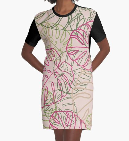 Leaves Graphic T-Shirt Dress