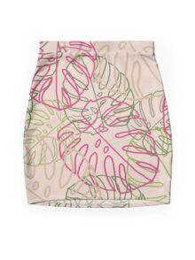 Leaves Mini Skirt