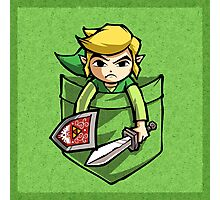 Pocket Link Legend of Zelda T-shirt Photographic Print