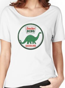 Sinclair Dino Gasoline vintage sign distressed Women's Relaxed Fit T-Shirt