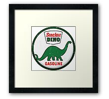 Sinclair Dino Gasoline vintage sign distressed Framed Print