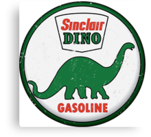 Sinclair Dino Gasoline vintage sign distressed Canvas Print