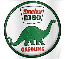 Sinclair Dino Gasoline vintage sign distressed Poster