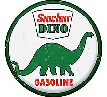 Sinclair Dino Gasoline vintage sign distressed Photographic Print