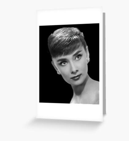Movie star art - Audrey Hepburn Greeting Card