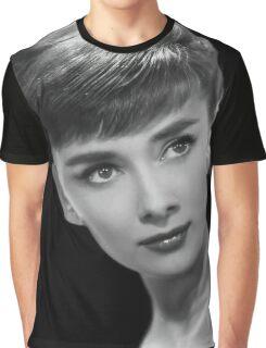 Movie star art - Audrey Hepburn Graphic T-Shirt