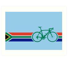 Bike Stripes South Africa Art Print