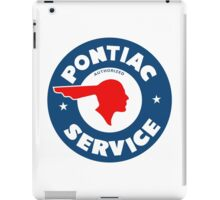 Pontiac Authorized Service vintage sign reproduction iPad Case/Skin