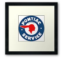 Pontiac Authorized Service vintage sign reproduction Framed Print