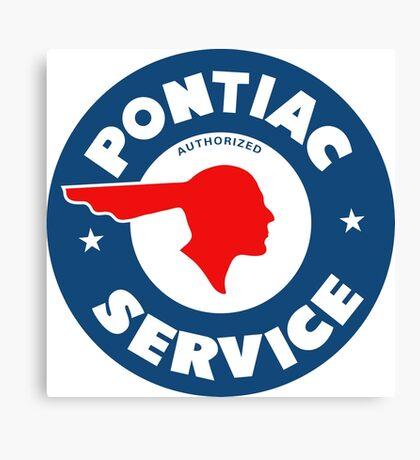 Pontiac Authorized Service vintage sign reproduction Canvas Print