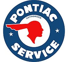 Pontiac Authorized Service vintage sign reproduction Photographic Print