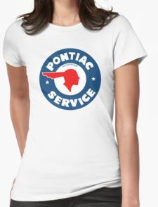Pontiac Authorized Service vintage sign reproduction Womens Fitted T-Shirt