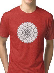 Poppy Flower Mandala Tri-blend T-Shirt