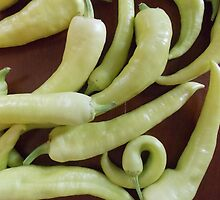 Banana Peppers by Suzanne Tineo