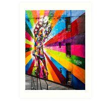 Kissing the War Goodbye (mural) Art Print