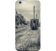 Abandoned burnt out train cars iPhone Case/Skin