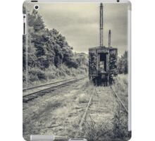 Abandoned burnt out train cars iPad Case/Skin