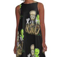 Eduardo Scissor Tentacles A-Line Dress