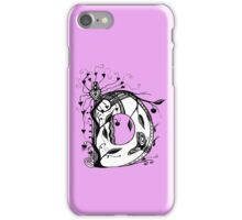 The Letter D Alphabet Aussie Tangle in Black and White iPhone Case/Skin