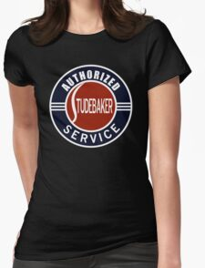 Authorized Studebaker Service vintage sign Womens Fitted T-Shirt