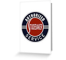 Authorized Studebaker Service vintage sign Greeting Card