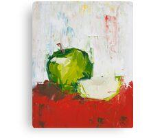 Vanishing Green Apple Canvas Print