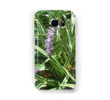 blooming variegated grass with purple flower Samsung Galaxy Case/Skin