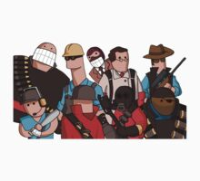 Team Fortress 2 - Cartoonified Team Design One Piece - Long Sleeve
