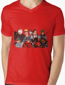 Team Fortress 2 - Cartoonified Team Design Mens V-Neck T-Shirt