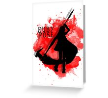 Ruby Rose Greeting Card