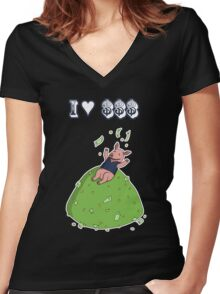 Capitalist Pig Women's Fitted V-Neck T-Shirt