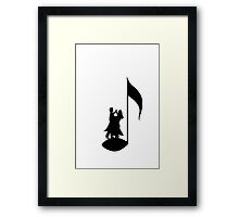Dancing on the music note Framed Print
