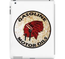 Red Indian Gasoline vintage sign reproduction rusted vers. iPad Case/Skin