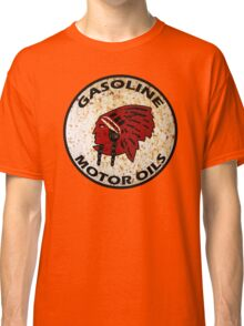 Red Indian Gasoline vintage sign reproduction rusted vers. Classic T-Shirt