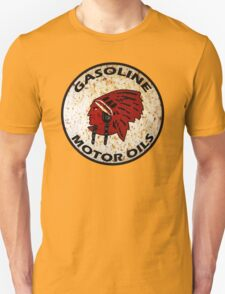 Red Indian Gasoline vintage sign reproduction rusted vers. T-Shirt