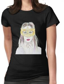 Girl with mask Womens Fitted T-Shirt