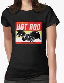 Hot Rod - Classic American Sports Car Womens Fitted T-Shirt