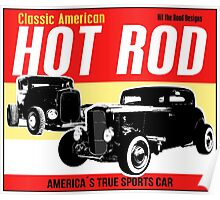 Hot Rod - Classic American Sports Car Poster