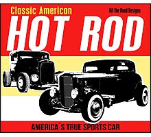 Hot Rod - Classic American Sports Car Photographic Print