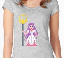 Saori Kido - Saint Seya Pixel Art Women's Fitted Scoop T-Shirt