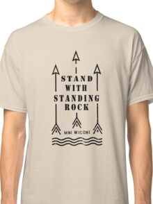 Music tshirt, Stand with standing rock Classic T-Shirt