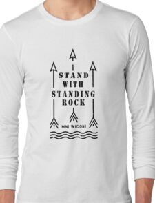 Music tshirt, Stand with standing rock Long Sleeve T-Shirt