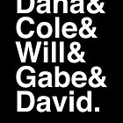 Dana & Cole & Will & Gabe & David. (inverse) by Samantha Weldon