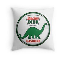 Sinclair Dino Gasoline vintage sign crystal vers. Throw Pillow