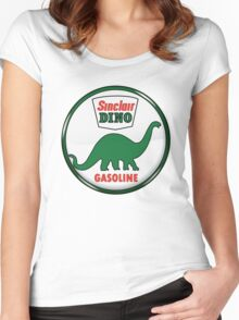 Sinclair Dino Gasoline vintage sign crystal vers. Women's Fitted Scoop T-Shirt